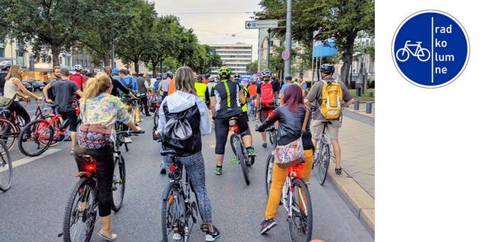Radfahrer in der Critical Mass