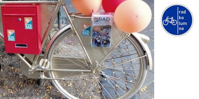 Radentscheid Kassel. Goldenes Fahrrad.