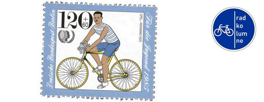 Ein Fahrrad von Opel.